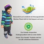 umkaumka Warm Windbreaker Jacket for Kids - Breathable Girl Jacket, Fleece Lined Hoodie, Waterproof Outdoor Clothing